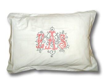 Monogrammed Pillow Sham
