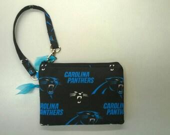 Carolina Panthers NFL game day wristlet purse stadium size