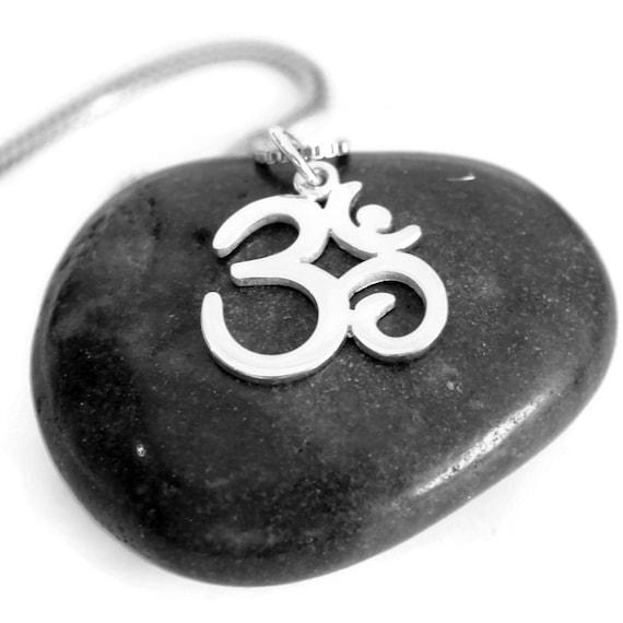 Mens Om  Necklace | Yoga Jewelry | Peace Harmony | Yoga Inspired | Mens Jewelry | Om Charm | Silver Bracelet | Om Pendant | Om Jewelry, Ohm