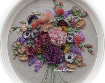 Silk Ribbon Embroidery - Bouquet de Fleurs - Full kit