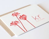 Personalized Stationery / Personalized Stationary - BRIGHT BOTANICAL Custom Notecard Set - Thank You Cards