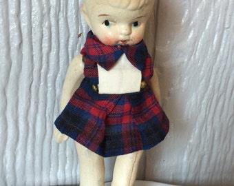 Vintage & Adorable Small Bisque Doll