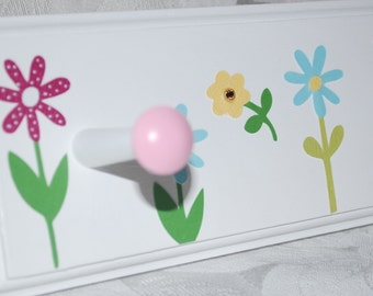 "28"" . 5 Pegs . Custom Children's Coat Rack Coat Rack . Daisy Garden"