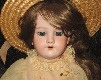 Lovely Antique GERMAN BISQUE Doll AM 390 Marked Handwerck Composition Body