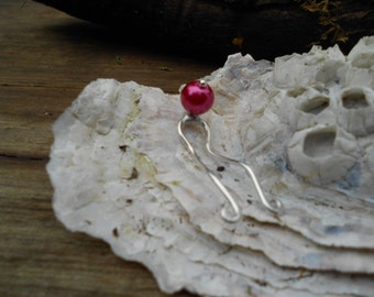 Clit Stimulator-Hot Pink Glass Pearl and Sterling Silver Wire Secret Clit Charm- Pink Delights-Mature