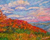 Into The Gorge Art Original 9x12 Fall Landscape Painting by Award Winning Artist Kendall Kessler