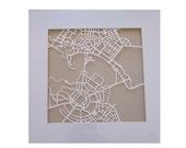 Canberra paper cut map wall art