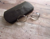 Vintage Wire Rim Eyeglass with Case - Will Make You Look Very Smart