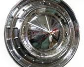 1955 Chevy Bel Air Hubcap Clock - '55 Chevrolet Belair Hub Cap - 1950's Classic Car Decor