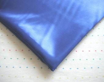 "Royal Blue Satin Lining Fabric, 60"" Wide, BTY"