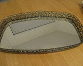 vintage  mirrored vanity tray /  just reduced 5.00 off