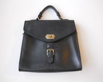 VTG Leather Liz Claiborne Bridle Bag Purse Large