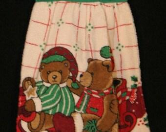 Cloth Sewn top Christmas terry towel, bears