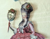 Digital Marie Antoinette Paper Doll - INSTANT Download - Vintage Style Torso With Many Embellishements For Paper Arts And Crafts CS24DP