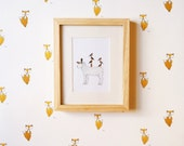 Removable Wallpaper // Foxy Print // Assorted Lengths // ADHERES to walls and shelf surfaces