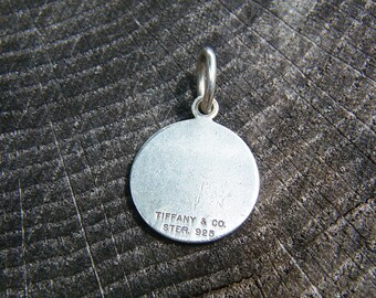 Tiffany Round Sterling Silver pendant