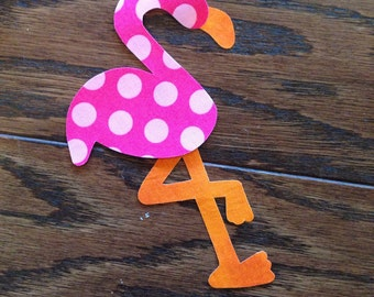Flamingo Iron On Applique, You Choose Fabric