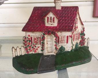 Cast Iron Cottage Doorstop