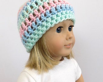 Doll Hat 18 Inch Doll Clothes Striped Beanie Toys