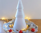 Modern Cone Tree - Cardboard and Paper - White