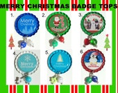 TOP Only**Merry Christmas Interchangeable Badge Reel Tops  *PICK one*