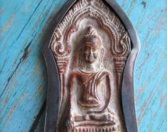 Thai Buddha in Lotus Pose Pendant, Thailand Buddha, Lotus Pendant, Buddha, Buddha Pendant, Lotus