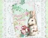 Tags - Rabbit Tags - Easter Greetings