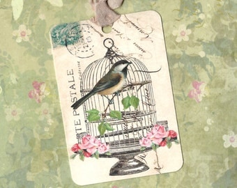 Tags, Bird Tags, Bird Cage, Bird Lover, Gift Tags