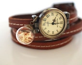 Real Dandelion Wristwatch Leather