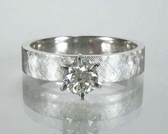Fine Vintage Diamond Solitaire Engagement Ring - 0.38 Carat Diamond