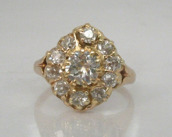 Antique Old European Cut Diamond Ring - 0.91 Carats - Engagement Ring - Appraisal Included