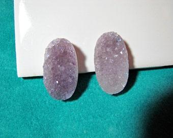 Amethyst Druzy Cabochons 33mm x 18mm Uruguay Amethyst Jewelry/ Craft Supplies/ Meditation Crystals/Reiki Lightworker Amethyst Crystals
