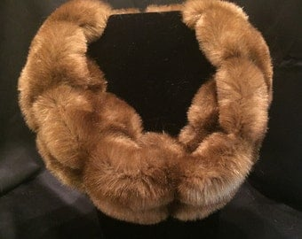 Cognac Faux Fur -  Neck Cowl