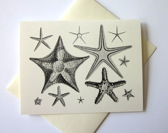 Starfish Stationery Note Cards Set of 10 with Matching Envelopes