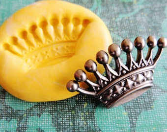 Large Crown Mold | Silicone Push Molds | Polymer Clay Resin Chocolate Fondant Jewelry Food Mold | Princess Crown Mold