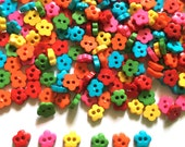 200 pcs tiny cherry flower button 4mm mix color for doll costume crafts