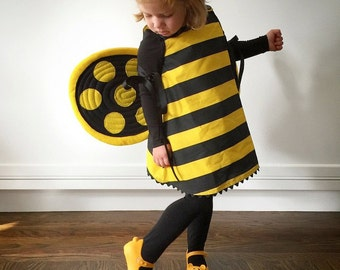 Bumblebee Wings, Yellow Black Bee. Photo Prop. Durable, Two-sided, No Wire.