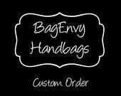 Custom Listing For (Valerie)  Custom SoCal Bag with Outside Zip