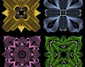 TWIST & SWIRL - 30 Machine Embroidery Designs Instant Download 4x4 5x7 6x10 hoop (AzEB)