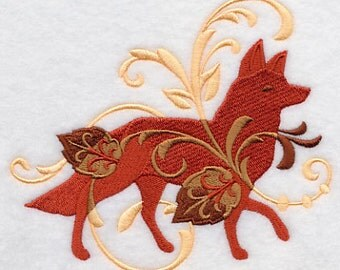FILIGREE FOX- Machine Embroidered Quilt Blocks (AzEB)