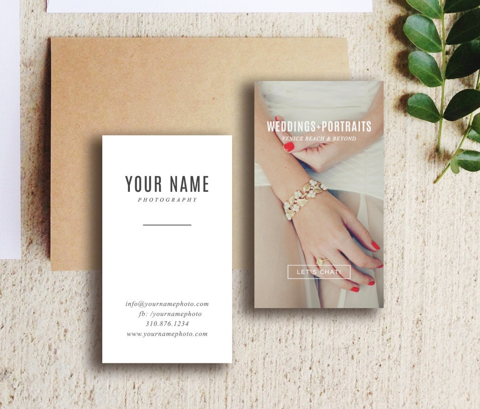 Wedding photography business card template digital photoshop for Wedding photography business cards