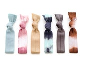 The Clarity Hair Tie Package - 6 Elastic Tie Dye Hair Ties  that Double as Bracelets by Mane Message on Etsy
