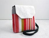 Geo Crossbody Bag, Red + Pink; everyday bag, cross body purse, fabric handbag, fabric purse, vegan purse, crossbody purse, gifts for her