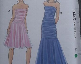 Kwik Sew 3449 Misses Dresses in Sizes XS-S-M-L-XL