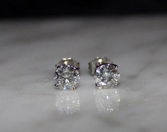 Moissanite,  Moissanite Earrings, Stud Earrings, Bridal Jewelry