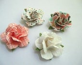 NEW - Limited - Handcrafted Paper Flower Lapel Pin / Boutonniere - you choose 1