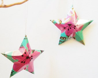 Arizona Green Tea Stars Ornaments Soda Can Upcycled AZ