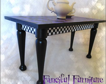 Miniature Table 'Purple Harlequin' Fanciful Furniture 1/6 scale