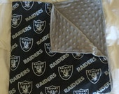 Oakland Raiders Minky Dot Baby Blanket