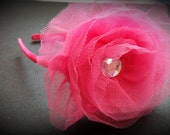 Get Your Pink On Headband With Tulle Flower
